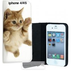 Etui Cuir pour Iphone 4