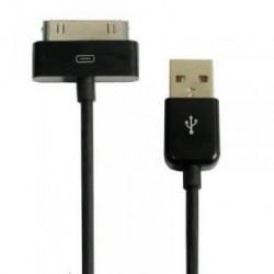 CÂBLE USB NOIR POUR IPHONE, IPAD ET IPOD