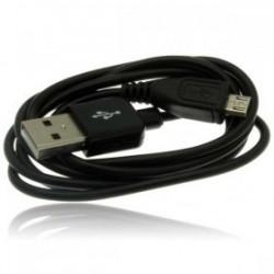 CÂBLE USB NOIR POUR BLACKBERRY, SAMSUNG ET AUTRES MODELES