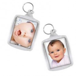 Porte clés personnalisable cristal RECTO VERSO