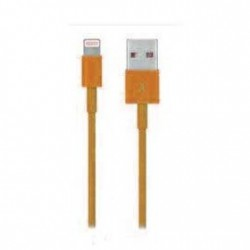 CÂBLE USB LIGHTNING ORANGE POUR IPHONE 5, 5S, 5C, 6,6+, IPAD 4 IPOD TOUCH 5 ET NANO 7