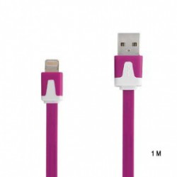 CÂBLE 1 METRE LUXE USB LIGHTNING MAUVE POUR IPHONE 5, 5C, 5S, IPAD 4, IPAD AIR, IPOD TOUCH 5 ET NANO 7