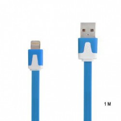 CÂBLE 1 METRE LUXE USB LIGHTNING BLEU POUR IPHONE 5, 5C, 5S, 6, 6+, IPAD 4 , IPAD AIR, IPOD TOUCH 5 ET NANO 7