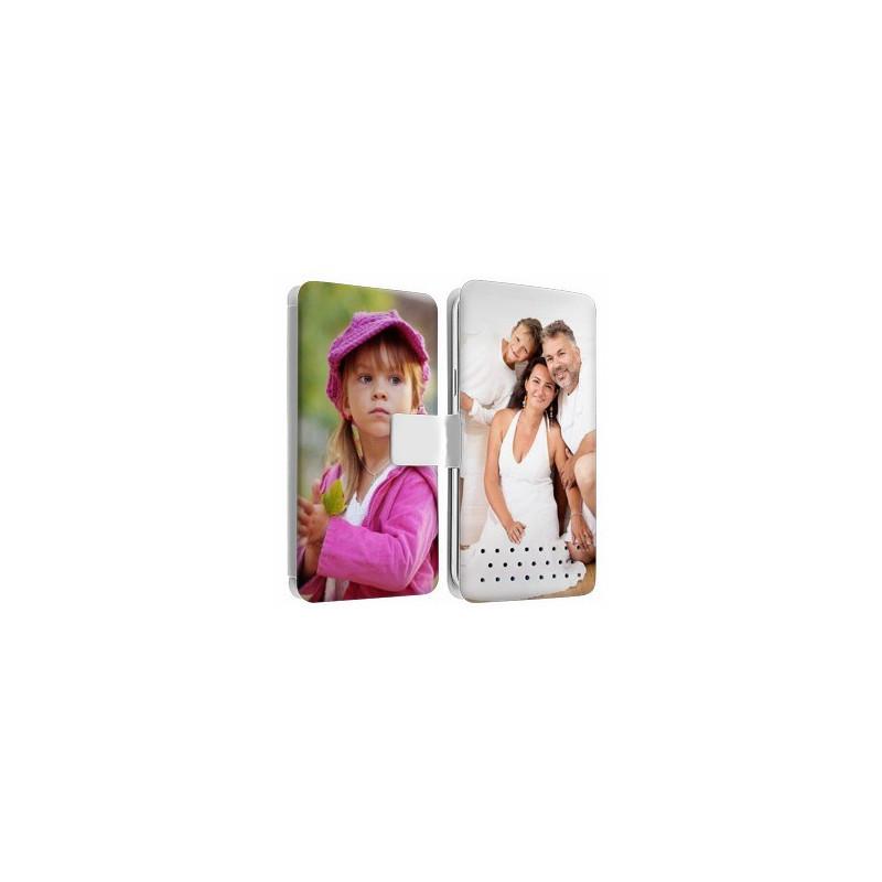 Etui cuir RECTO VERSO personnalisé pour Huawei P8 Lite