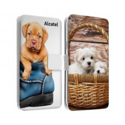 Etui cuir RECTO VERSO Alcatel Go Play