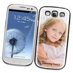 Coques souples PERSONNALISEES Gel silicone pour Samsung Galaxy CORE 2