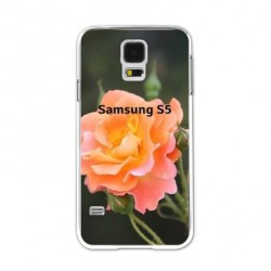 Coques souples PERSONNALISEES Gel silicone pour Samsung Galaxy S5