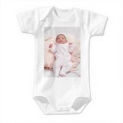 Body bebe personnalisable 62/68cm pour 3-6 mois manches courtes