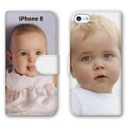 Etui Cuir à personnaliser RECTO VERSO iPhone 8