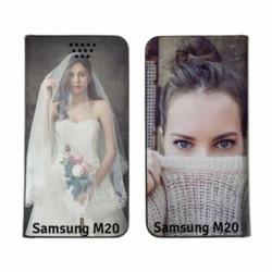 Etui RECTO VERSO pour Samsung Galaxy M20