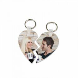 Porte clés coeur séparable personnalisé