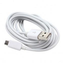 CÂBLE USB BLANC POUR BLACKBERRY, SAMSUNG ET AUTRES MODELES