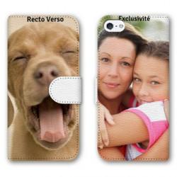 Etui Cuir à personnaliser RECTO VERSO Iphone 5