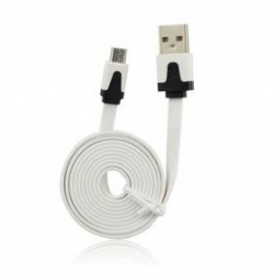 CÂBLE LUXE USB LIGHTNING BLANC POUR IPHONE 5, 5C, 5S,6, 6+, IPAD 4 IPOD TOUCH 5 ET NANO 7