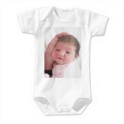 Body bebe personnalisable 68/74cm pour 6-9 mois manches courtes